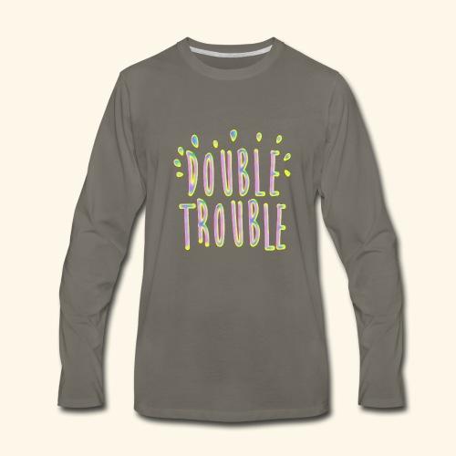 funny colorful letters design - Men's Premium Long Sleeve T-Shirt