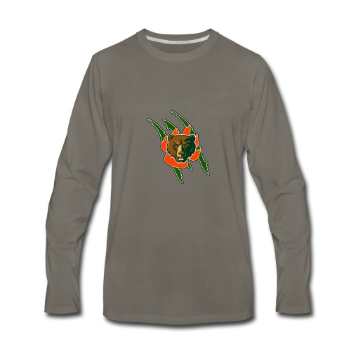 RIVERSIDE POLY BEAR LOGO - Men's Premium Long Sleeve T-Shirt