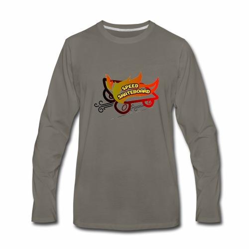 speed skateboard - Men's Premium Long Sleeve T-Shirt