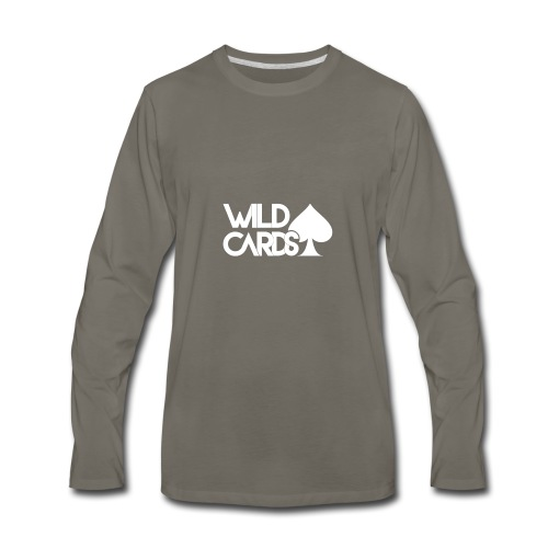 Black Wild Cards Hoodie - Men's Premium Long Sleeve T-Shirt