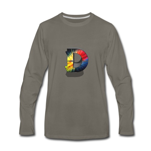 D Logo Colorful - Men's Premium Long Sleeve T-Shirt