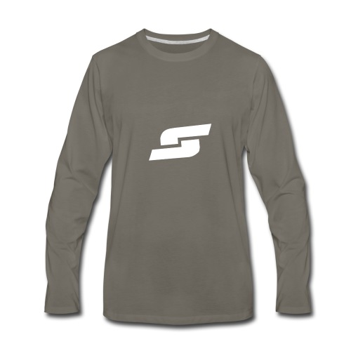white splash logo - Men's Premium Long Sleeve T-Shirt