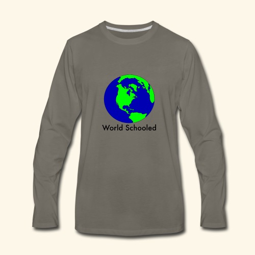 World Schooled - Men's Premium Long Sleeve T-Shirt