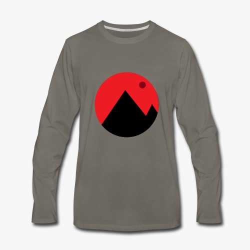 Mountain and the moon - Men's Premium Long Sleeve T-Shirt