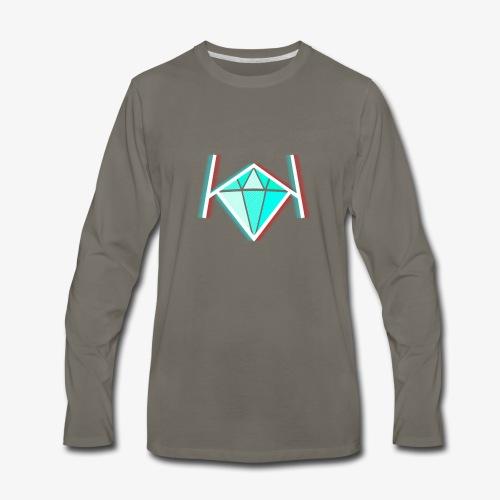 3D KK Diamond Logo - Men's Premium Long Sleeve T-Shirt