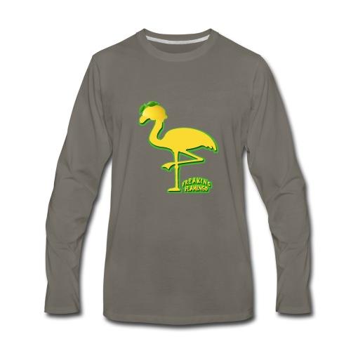 Fruit Flamingo Neon—Lemon - Men's Premium Long Sleeve T-Shirt
