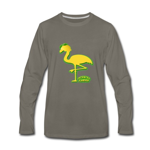Fruit Flamingo Neon—Lemon - Men's Premium Long Sleeve T-Shirt
