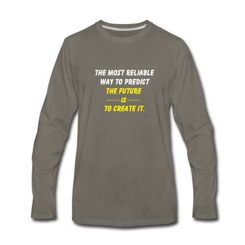create the future - Men's Premium Long Sleeve T-Shirt