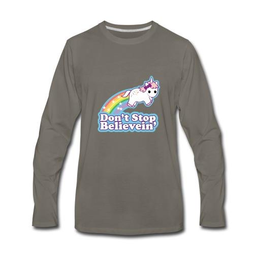 Don't Stop Believe'in - Men's Premium Long Sleeve T-Shirt