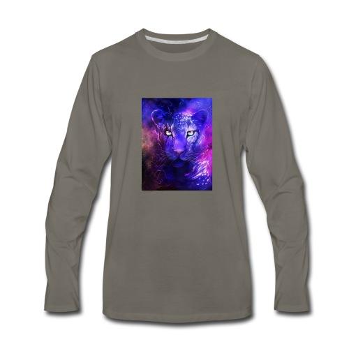 glowing leopard - Men's Premium Long Sleeve T-Shirt