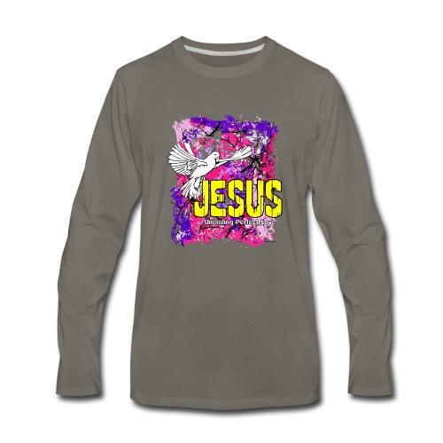 JESUS UNENDING PERFECT LOVE - Men's Premium Long Sleeve T-Shirt