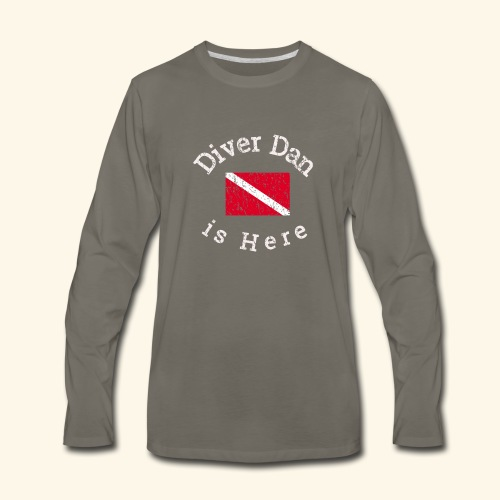 Scuba - Diver Dan is Here, distressed look - Men's Premium Long Sleeve T-Shirt