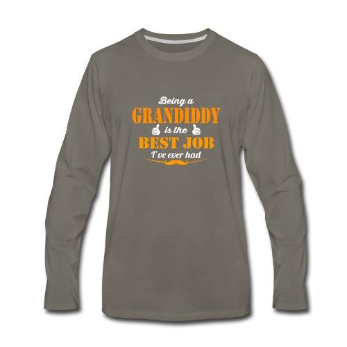 Being Grandiddy is best job ever - Men's Premium Long Sleeve T-Shirt
