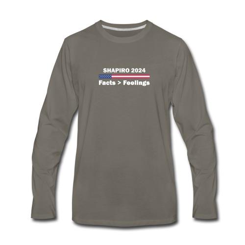 Ben Shapiro 2024 Facts More Than Feelings T Shirt - Men's Premium Long Sleeve T-Shirt