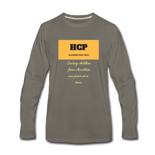 HCP Halloween Candy Police - Men's Premium Long Sleeve T-Shirt