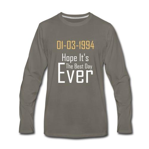 01/03/1994 justin b birthday - Men's Premium Long Sleeve T-Shirt