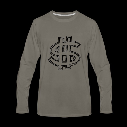 dollar sign drawing 4 - Men's Premium Long Sleeve T-Shirt