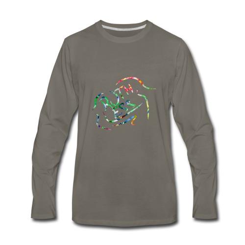 Flower Signature Black - Men's Premium Long Sleeve T-Shirt