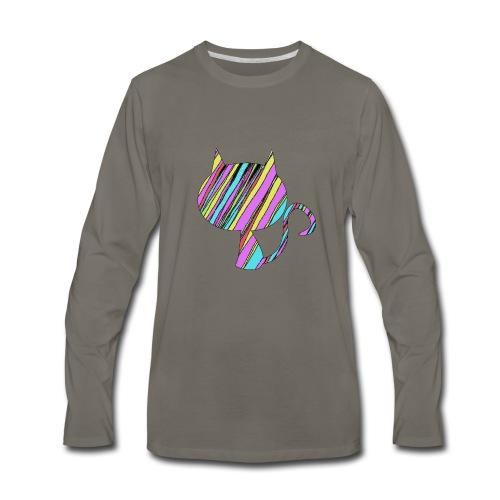The Skis Cat - Men's Premium Long Sleeve T-Shirt