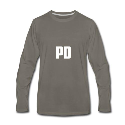 POWdrummer's Logo Shirt - Men's Premium Long Sleeve T-Shirt