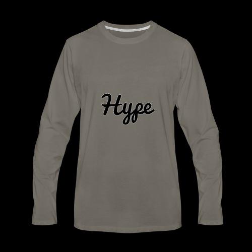 Hype Logo - Men's Premium Long Sleeve T-Shirt