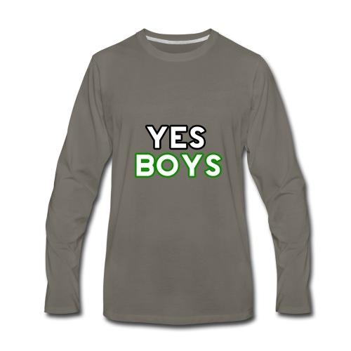 MERCHANDISE Yes Boys Campaign - Men's Premium Long Sleeve T-Shirt