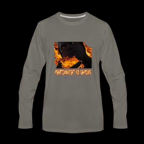 Martinoheat HD Gaming button - Men's Premium Long Sleeve T-Shirt