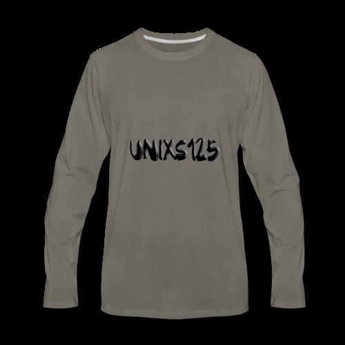 Text Logo - Men's Premium Long Sleeve T-Shirt