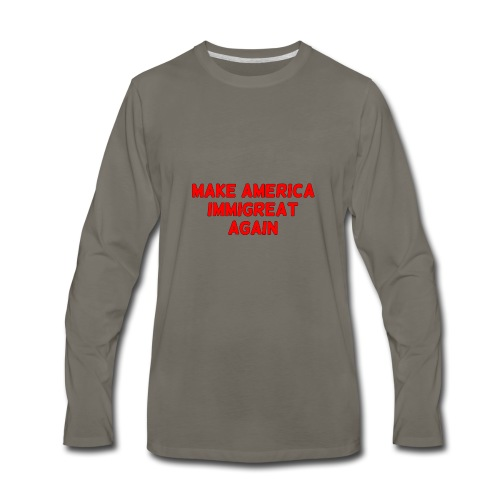 ImmiGREAT - Red - Men's Premium Long Sleeve T-Shirt