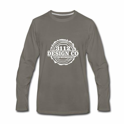 3112 Design Co - White Logo - Men's Premium Long Sleeve T-Shirt
