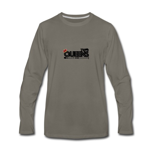 Two Queens 1 mic - Men's Premium Long Sleeve T-Shirt