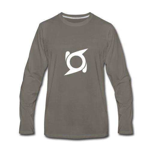 Shuriken White - Men's Premium Long Sleeve T-Shirt