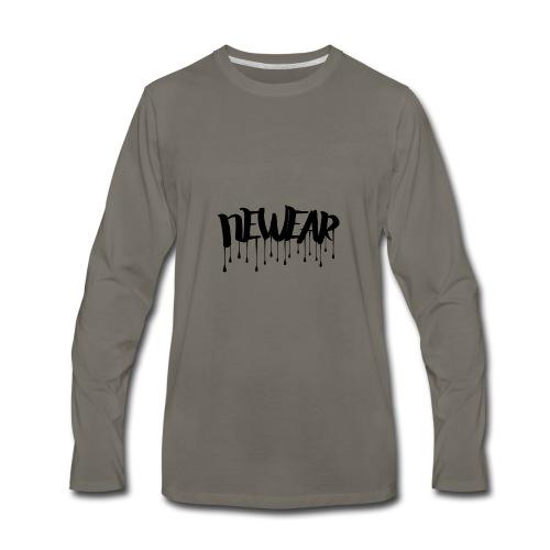 NEWEAR Logo BLACK - Men's Premium Long Sleeve T-Shirt