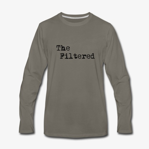TheFilteredPlain - Men's Premium Long Sleeve T-Shirt