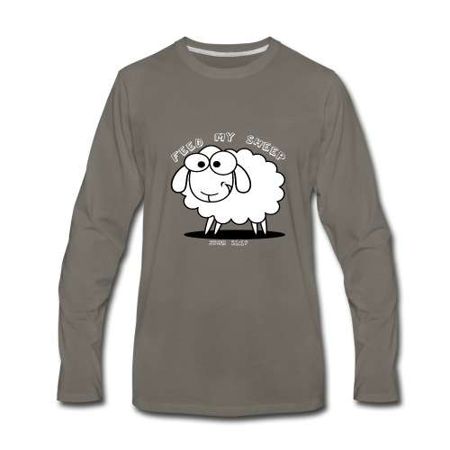 Feed My Sheep - Men's Premium Long Sleeve T-Shirt