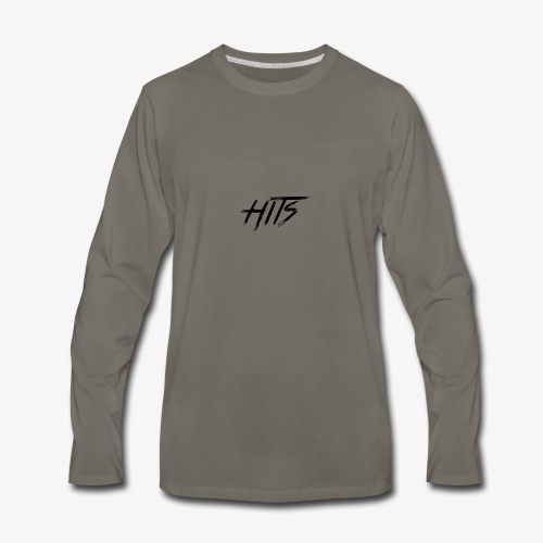 Hits Logo - Men's Premium Long Sleeve T-Shirt