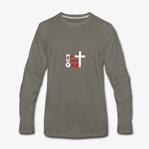 MUG Men Under God without coffee mug - Men's Premium Long Sleeve T-Shirt