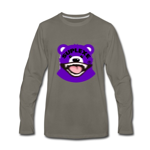 PURPLE {BLUR} BE@R x BADGER TEE - Men's Premium Long Sleeve T-Shirt