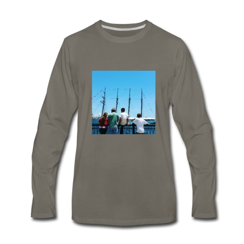 Mi Familia.and Heather - Men's Premium Long Sleeve T-Shirt
