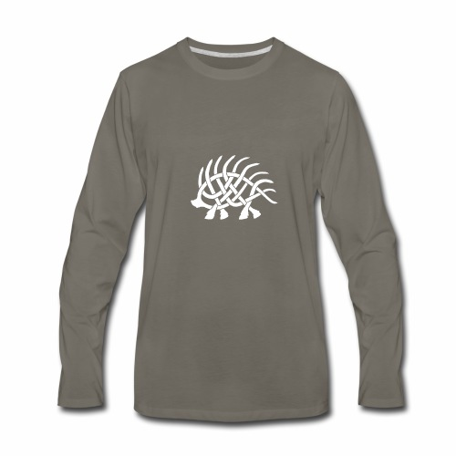 Boar Knot - White - Men's Premium Long Sleeve T-Shirt