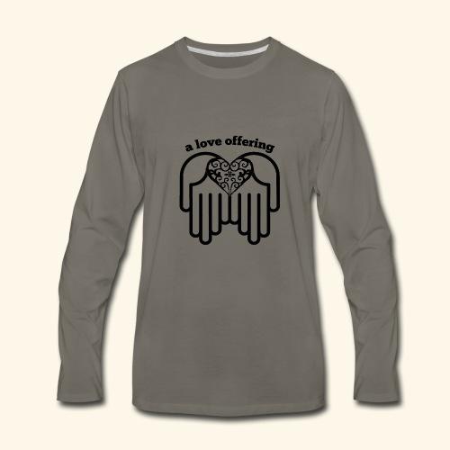 A Love Offering black - Men's Premium Long Sleeve T-Shirt