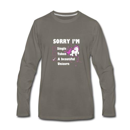 I M A BEAUTIFUL UNICORN - Men's Premium Long Sleeve T-Shirt