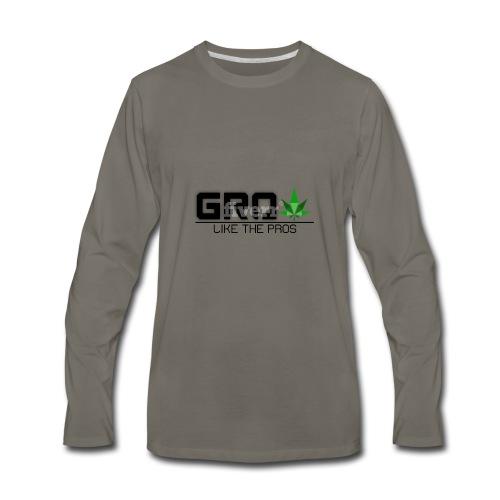 GrowLikeTheProsLogo - Men's Premium Long Sleeve T-Shirt