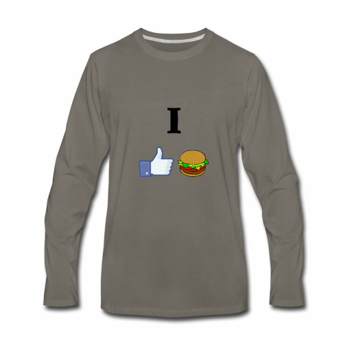 I LIKE CHEESEBURGERS - Men's Premium Long Sleeve T-Shirt