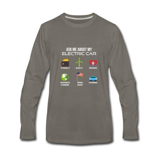 Electric Vehicle Tee Shirt - Men's Premium Long Sleeve T-Shirt