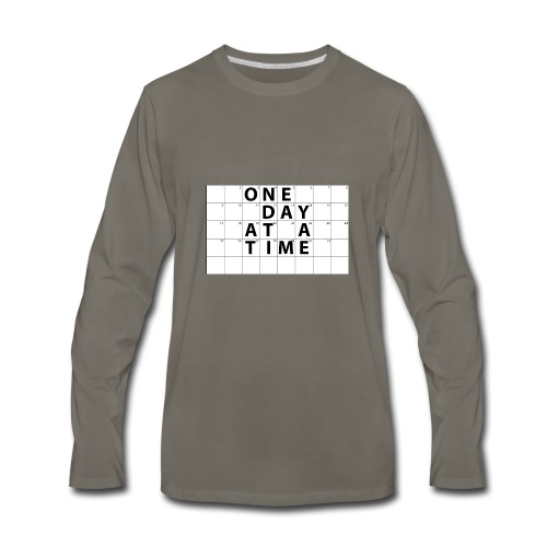 One Day At A Time Inverse - Men's Premium Long Sleeve T-Shirt