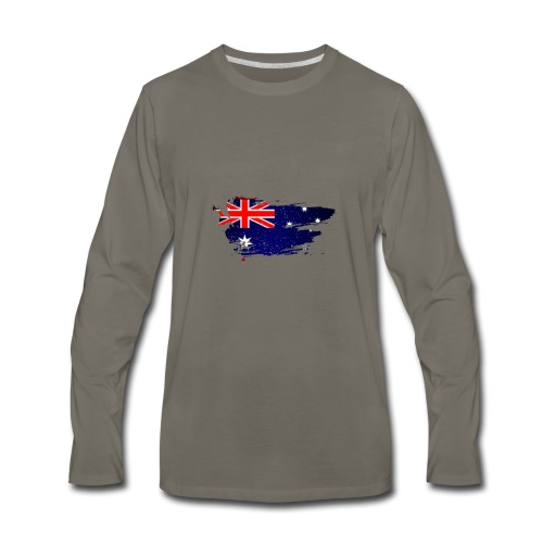 Australian Flag - Men's Premium Long Sleeve T-Shirt
