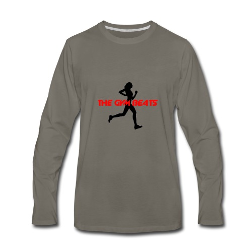 THE GYM BEATS - Music for Sports - Men's Premium Long Sleeve T-Shirt