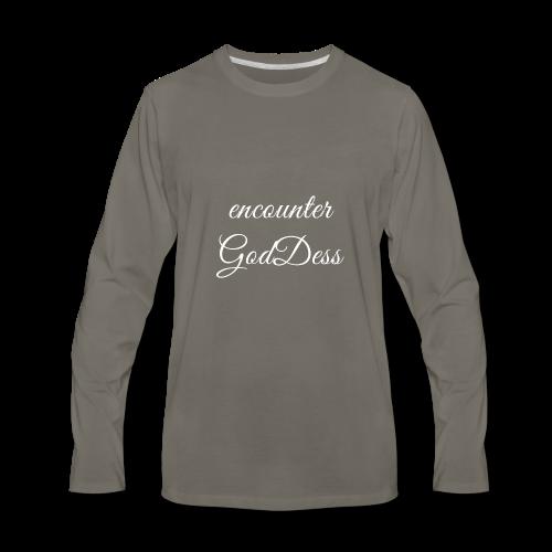 inspi shirt-7.2: encounter GodDess (white) ~ - Men's Premium Long Sleeve T-Shirt