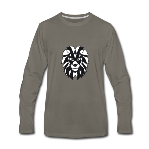 Lion black white - Men's Premium Long Sleeve T-Shirt